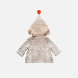 Hand Knit Merino Wool North Wind Coat - Nutmeg - 18m-5y