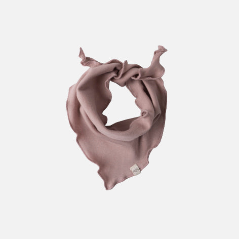 Organic Cotton Frill Scarf - Dusty Rose - One Size