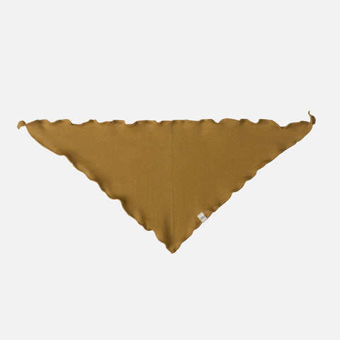 Organic Cotton Frill Scarf - Golden Leaf