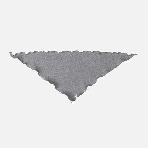 Organic Cotton Frill Scarf - Grey Melange - One Size