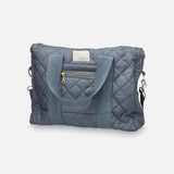 Organic Cotton Coated Changing Bag - Charcoal