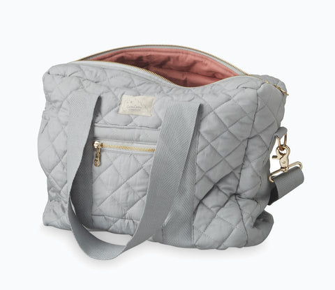 Organic Cotton Coated Changing Bag - Grey