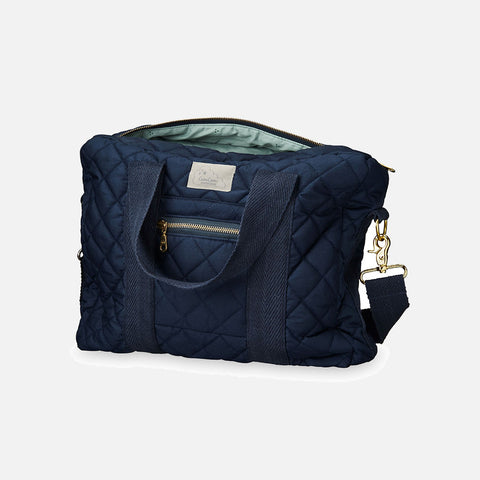 Organic Cotton Coated Changing Bag - Navy