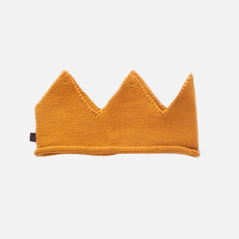 Cotton Knit Crown - Ochre - 0m-6y