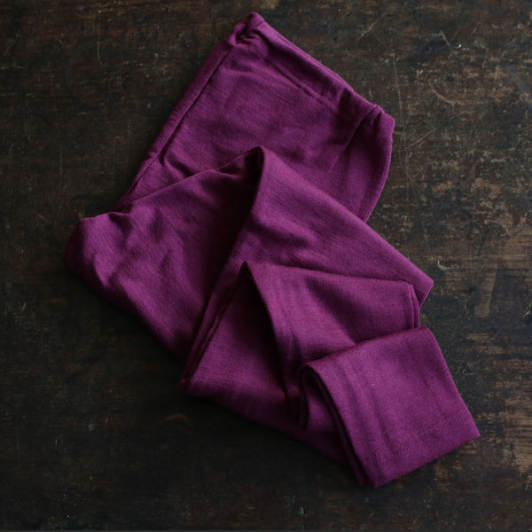 Organic Silk/ Merino Wool Ladies Leggings - Orchid