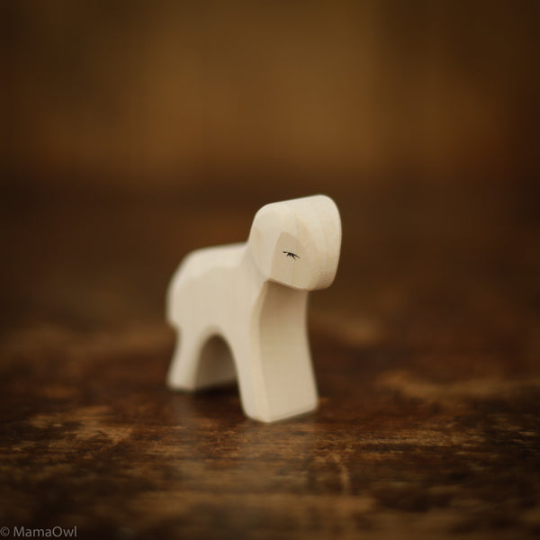 Handcrafted White Lamb Standing