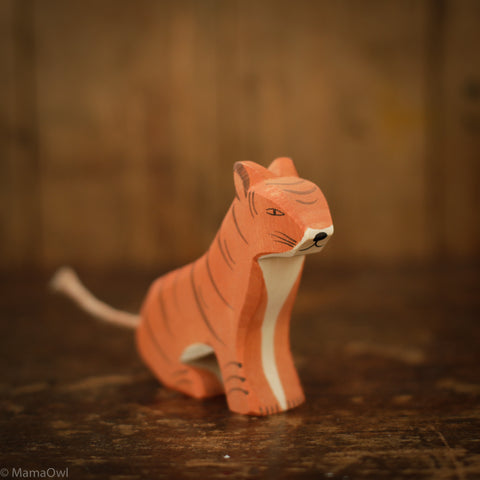 Handcrafted Tiger Sitting