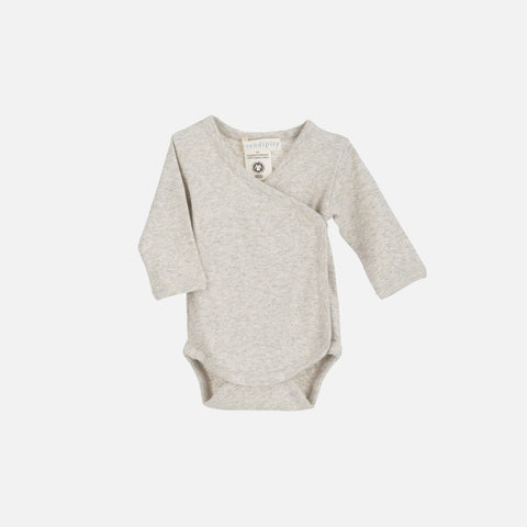 Organic Cotton Newborn Baby Body Wrap - Wheat/WarmGrey - 0-3m
