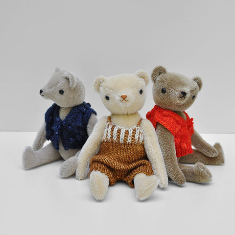 Mohair Classic Bear in MP Overalls - Cream/Nutmeg