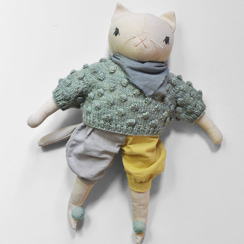 Limited Edition Misha & Puff x PDC Large Cream Cat - Sage