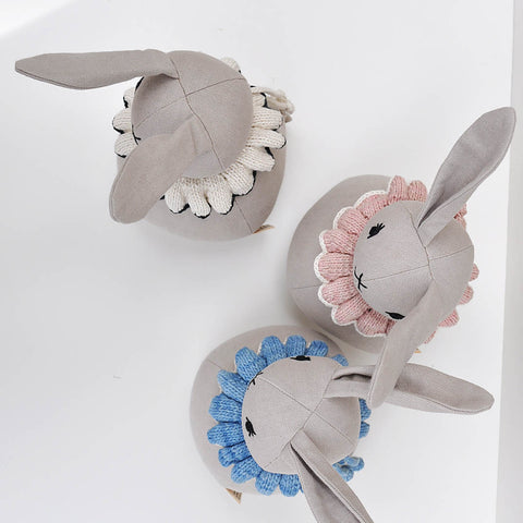 Organic Cotton Roly-Poly rabbit - Pink Sand