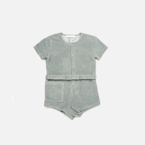 Cotton Terry Pippa Playsuit - Moonstone - 12m-3y