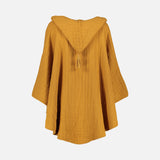 Cotton Muslin Children's Poncho - Mustard