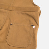 Cotton Porter Short Dungaree - Tan