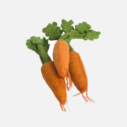 Felted Wool Vegetable Dutch Carrots - Set of 3