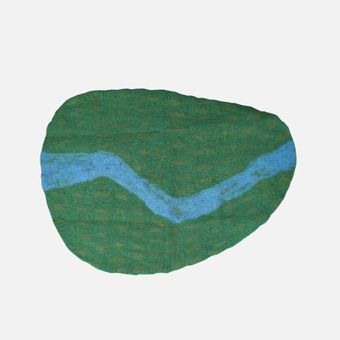 Felted Wool River Play Mat