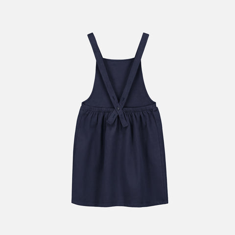 Organic Cotton Pinafore Dress - Night Blue - 12m-6y