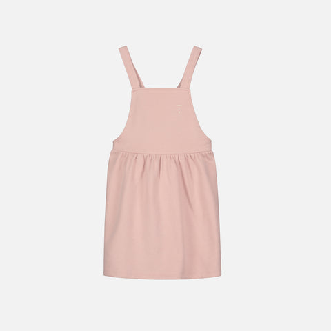 Organic Cotton Pinafore Dress - Vintage Pink