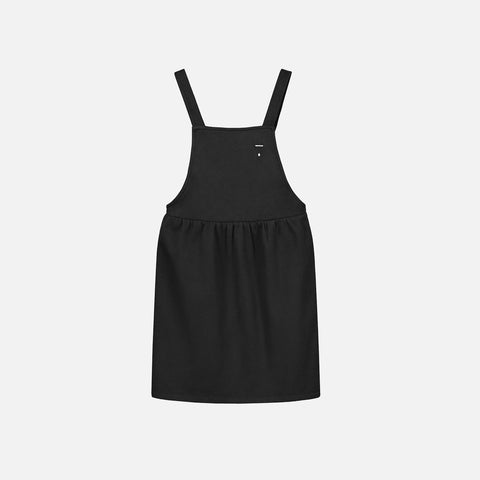 Organic Cotton Pinafore Dress - Almost Black - 12m-8y