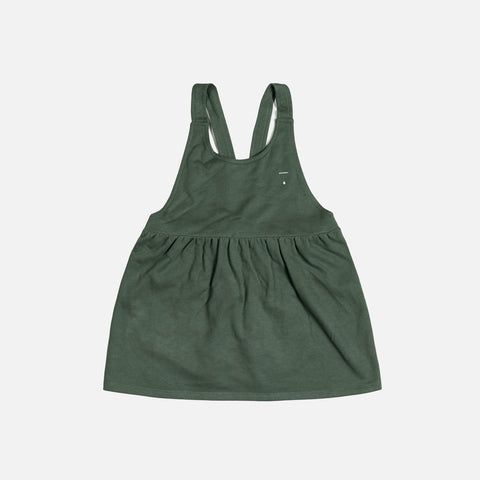 Organic Cotton Pinafore Dress - Sage - 12-24m