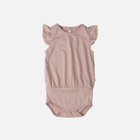 Organic Cotton Pippi Romper - Dusty Rose - 1m-3y