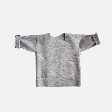 Felted Alpin Wool Jacket - Grey - 4-5y