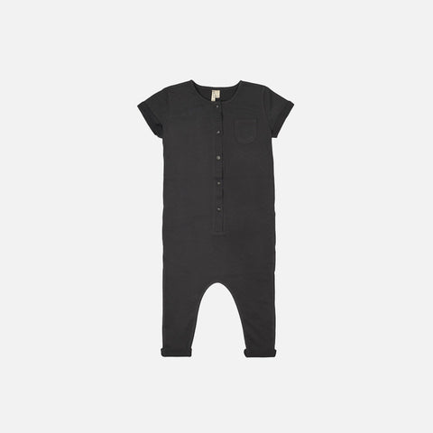 Organic Cotton Playsuit - Nearly Black - 3-4y