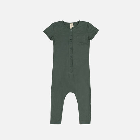 Organic Cotton Playsuit - Sage - 0m-4y