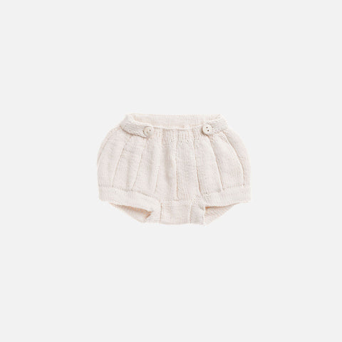 Hand Knit Pleated Bloomers - Natural - 6m-4y