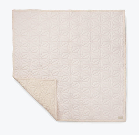 Organic Cotton Baby Quilt - Pink/Nude