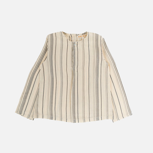 Linen Ryan Long Sleeve Shirt - Cream Stripe