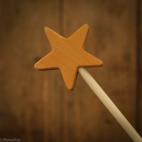 Exclusive Wooden Magic Star Wand - 4 Colours