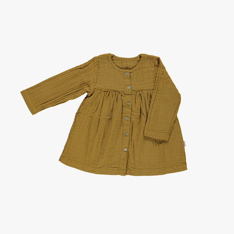 Organic Long Sleeve Dress - Cassonade - 3-8 years