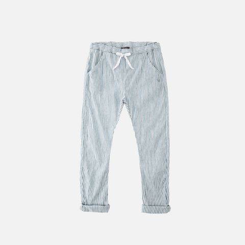 Cotton/Linen Stripped Pants - Blue - 3-8y