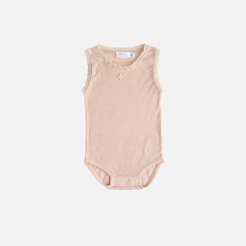 Cotton Ribbed Body - Pink - 3-18m