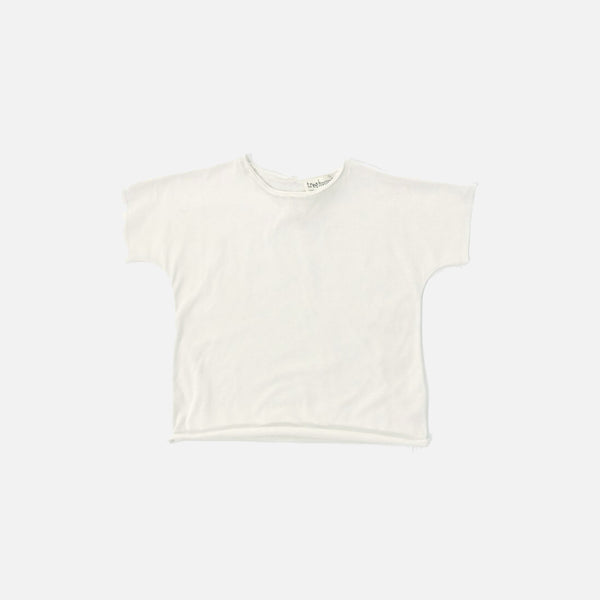 Organic Cotton Sean Tee - Almond Milk - 6-7y