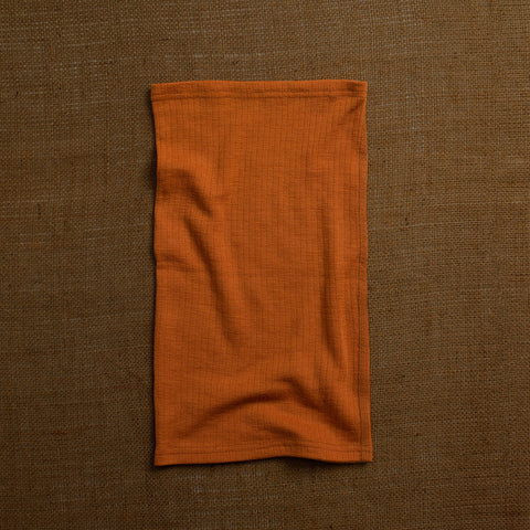 Merino Wool Ribbed Snood - Rust