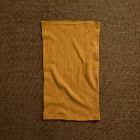 Merino Wool Ribbed Snood - Ochre