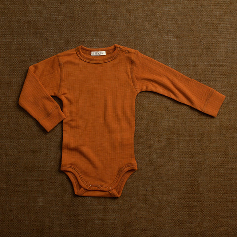Merino Wool Rib Body - Rust