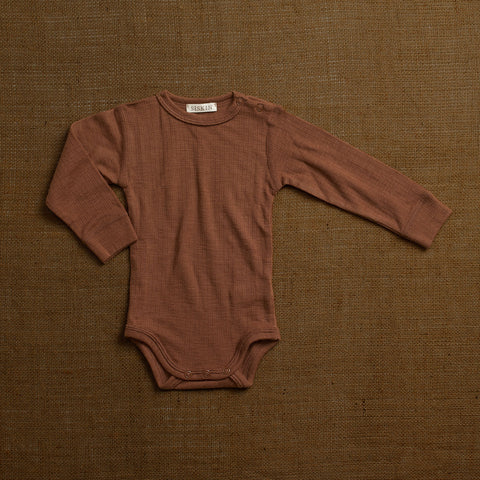 Merino Wool Rib Body - Nutmeg