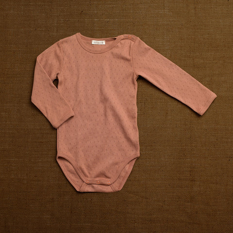 Organic Cotton Pointelle Body - Rosewood