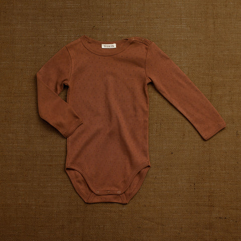 Organic Cotton Pointelle Body - Nutmeg