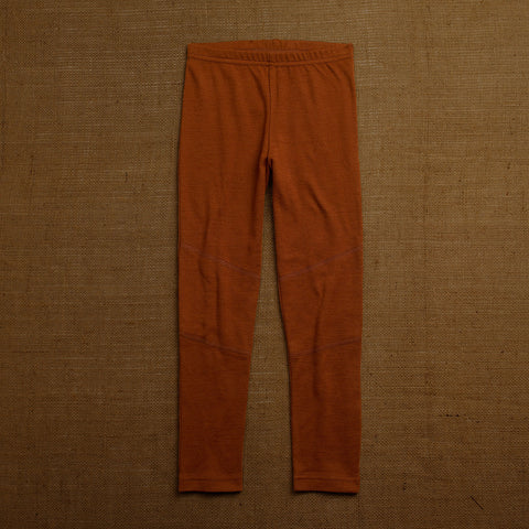 Organic Merino Wool Leggings - Cinnamon