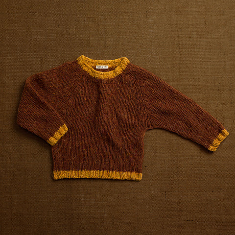 Merino Donegal Wool Forest Sweater - Cinnamon