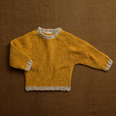 Merino Wool Donegal Forest Sweater - Ochre