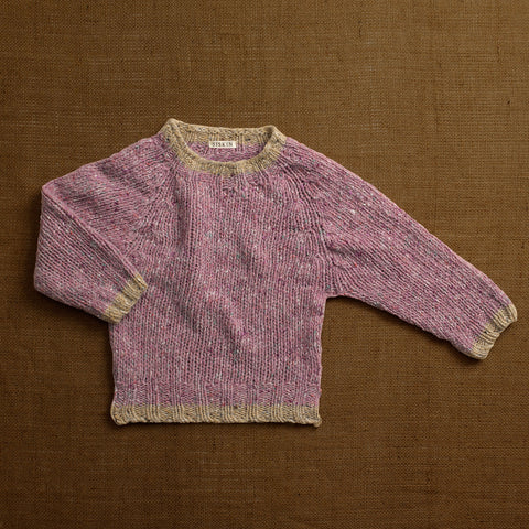 Merino Donegal Wool Forest Sweater - Clematis