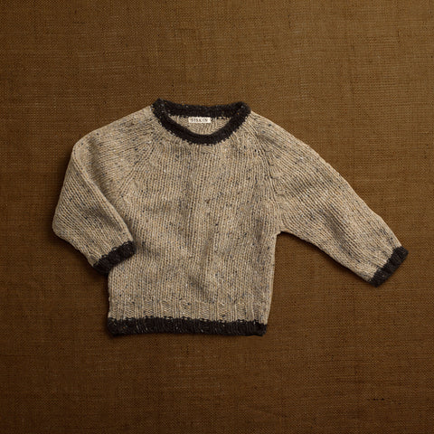 Merino Wool Donegal Wool Forest Sweater - Stone