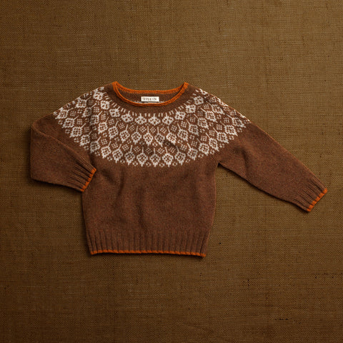 Superfine Lambswool Autumn Sweater - Hazelnut