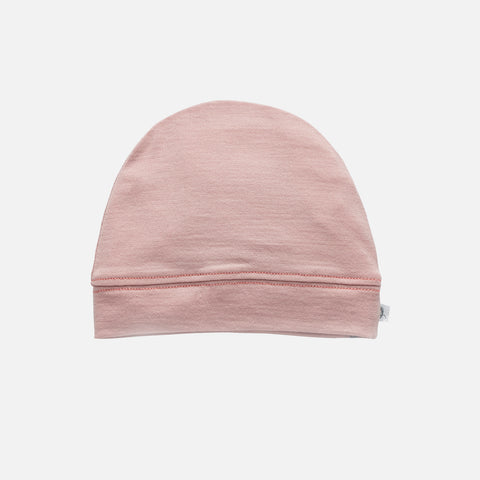 Supersoft Merino Wool Beanie - Misty Rose - 0-2y