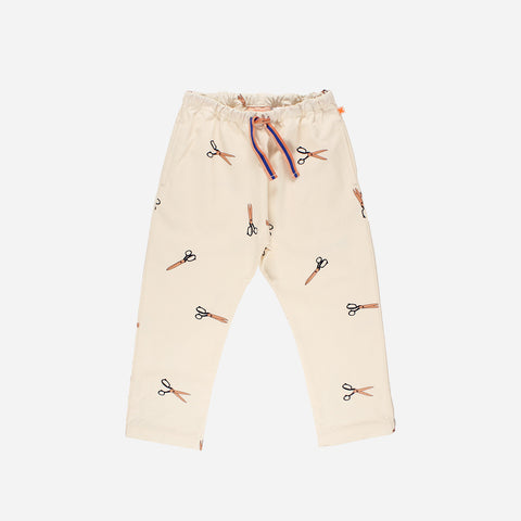 Pima Cotton Woven Scissor Pants - Off-White - 3m-8y